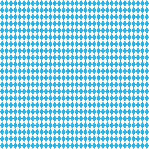 ilustraciones, imágenes clip art, dibujos animados e iconos de stock de oktoberfest azul fondo sin costuras. rombo ilustración vectorial - oktoberfest