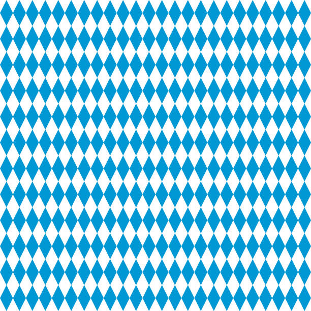 oktoberfest diamond checkered vector seamless pattern. bavarian flag. blue white simple traditional background. repetitive textile. fabric swatch. wrapping paper. continuous print. october festival - oktoberfest stock illustrations