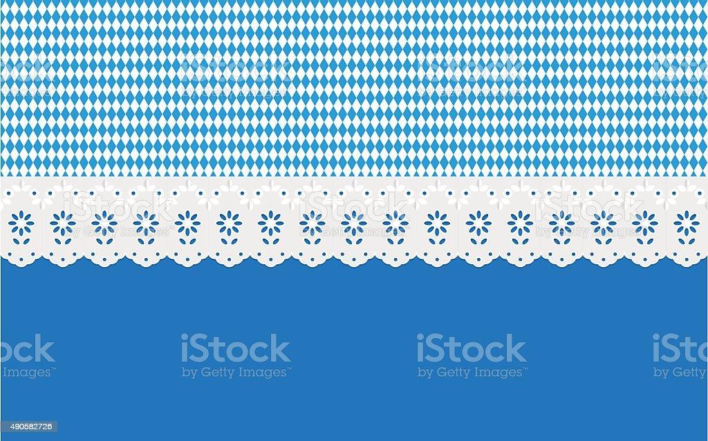 Oktoberfest Diamantmuster auf einem blauen Hintergrund. – Vektorgrafik