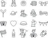 20 icons for Oktoberfest beer festival in Gemany.