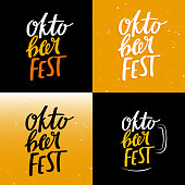 Oktoberfest Funny Concept with Lettering