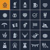 Set of Oktoberfest icons