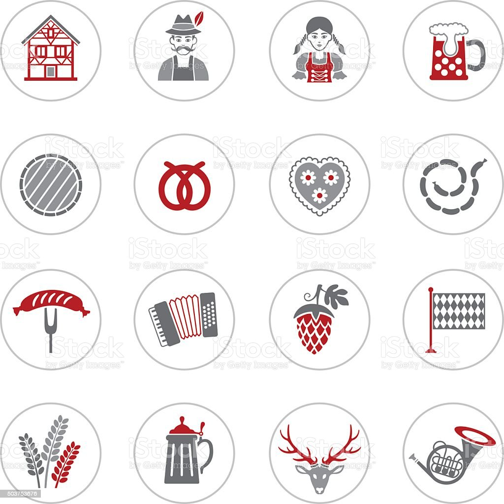 Oktoberfest Icons vector art illustration