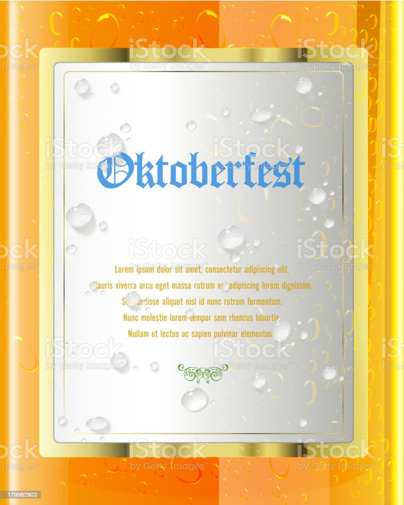 Oktoberfest Label on Beer Glass royalty-free oktoberfest label on beer glass stock vector art & more images of beer - alcohol