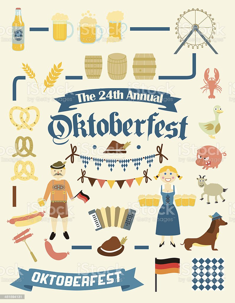 Oktoberfest Retro Creation Kit vector art illustration