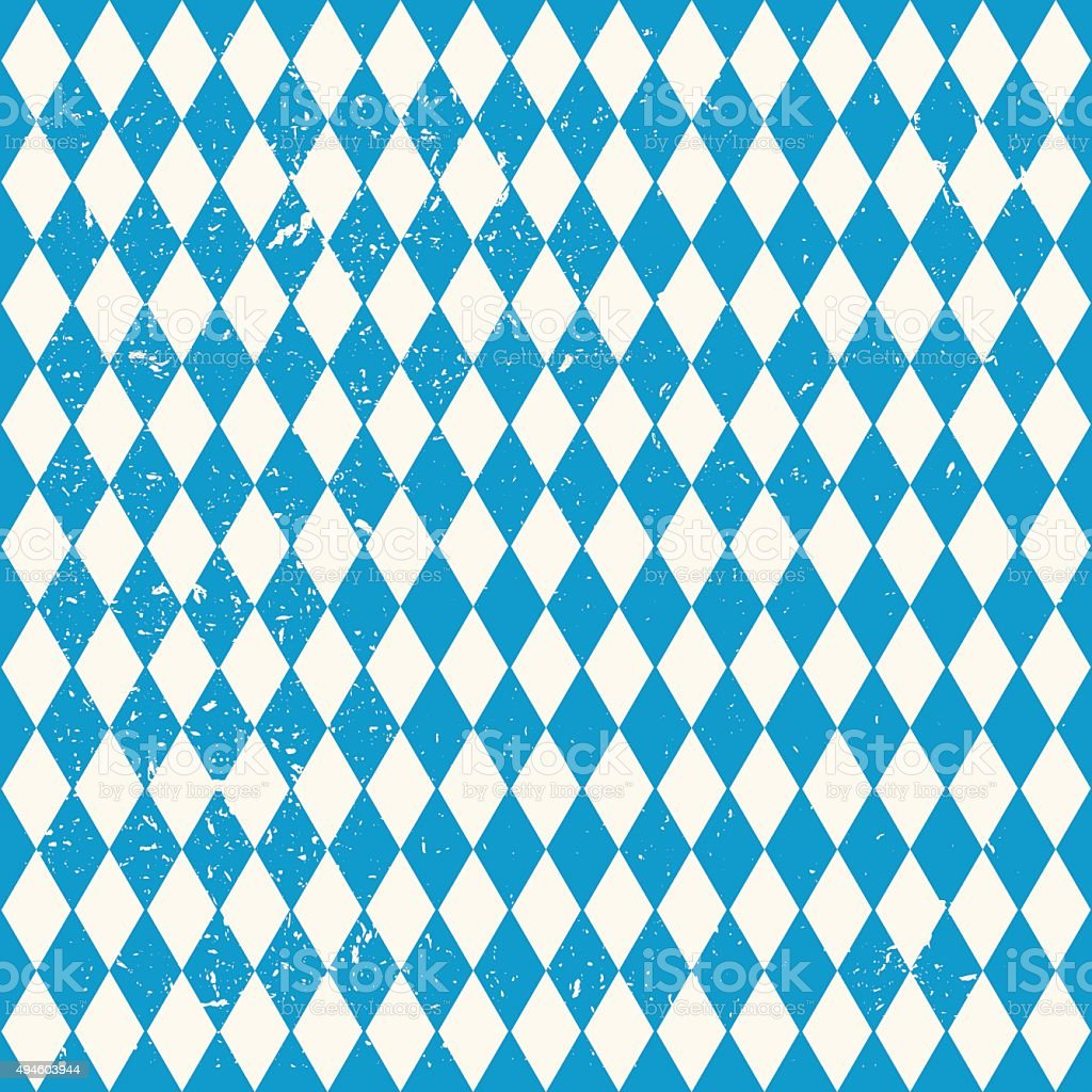 Oktoberfest seamless pattern with rhombus vector art illustration