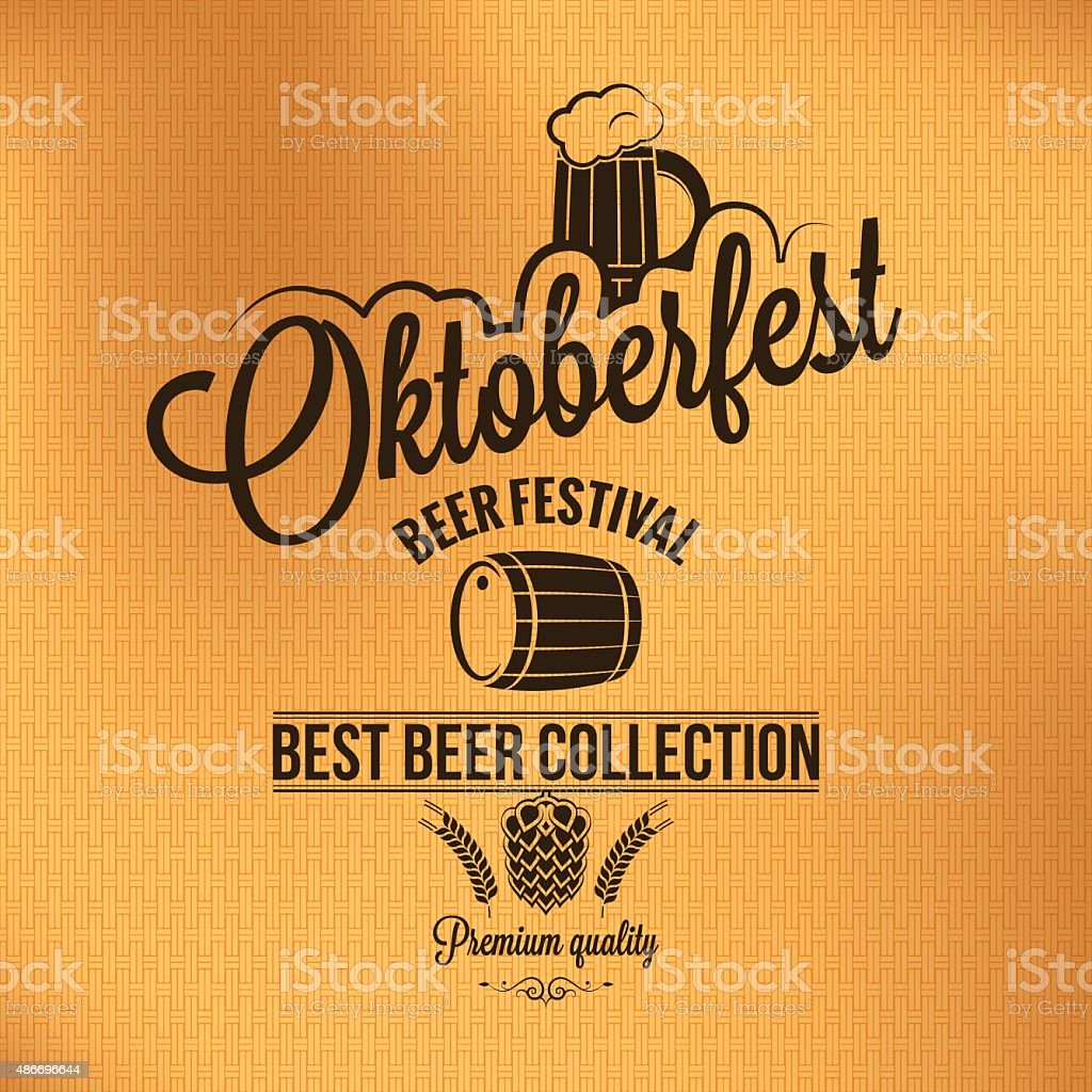 oktoberfest vintage poster vector background vector art illustration