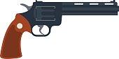 Old American colt revolver wild west handgun danger crime ammunition