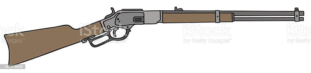 old american rifle vector art illustration