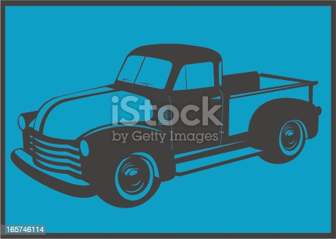 It's an 50's old american truck. Colors can be easily changed.  See also: