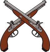 Free Crossed Gun Clipart and Vector Graphics - Clipart.me