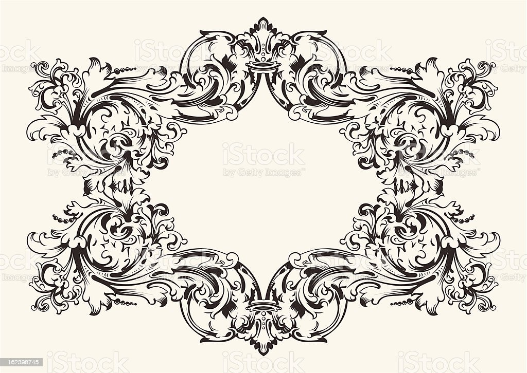 Old Antique High Ornate Frame royalty-free stock vector art