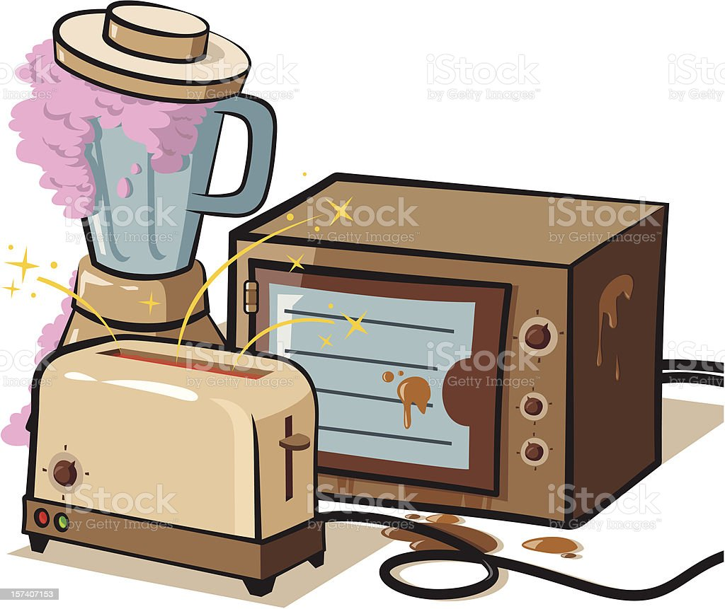 Old appliances royalty-free stock vector art