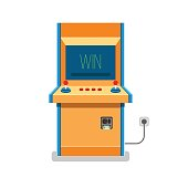 Old Arcade machine vector illustration