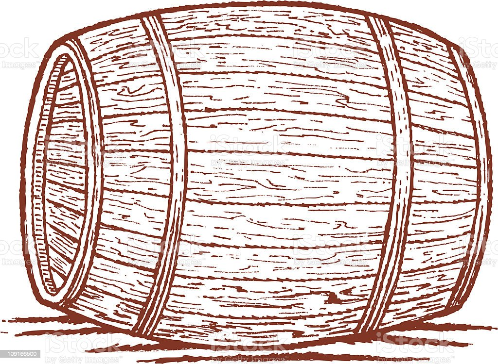 Old Barrel royalty-free stock vector art
