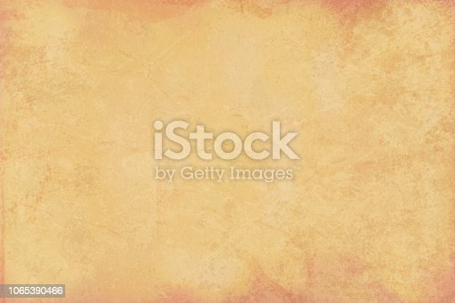 Horizontal Old Yellow beige colored cracked effect wooden, wall texture vector background . Paper texture. Cracked, crumpled look. Rectangular grunge background. Slightly reddish brown gradient texture at the top and bottom sides.