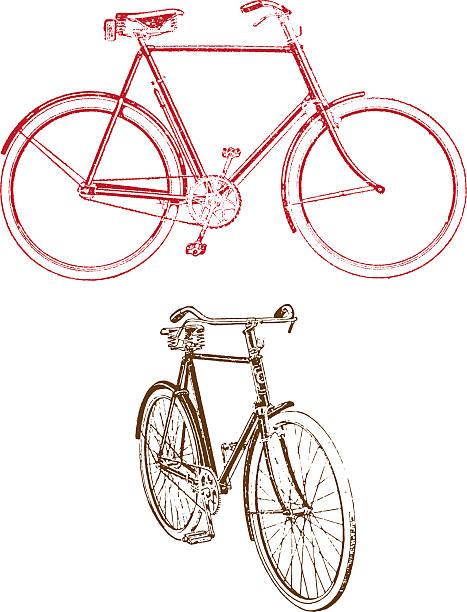 Old bicycle illustration vector art illustration