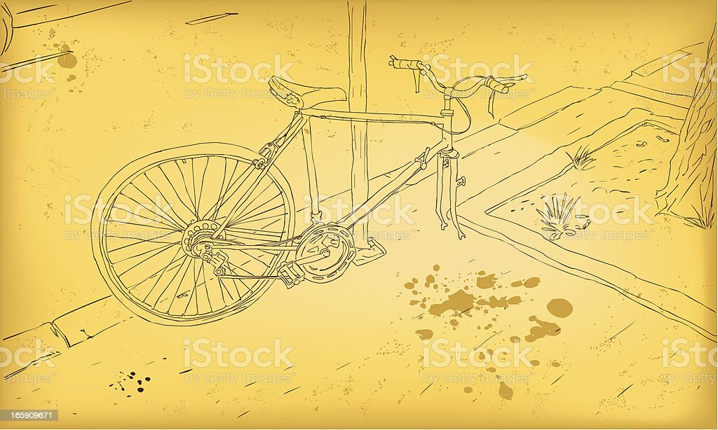 Old Bicycle royalty-free stock vector art