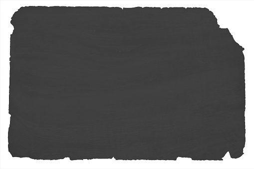 Old black coloured textured grunge paper background with torn or ripped edges