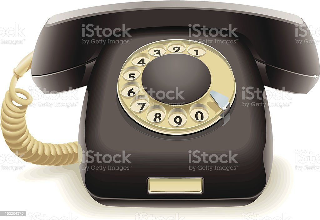 Old black phone royalty-free stock vector art