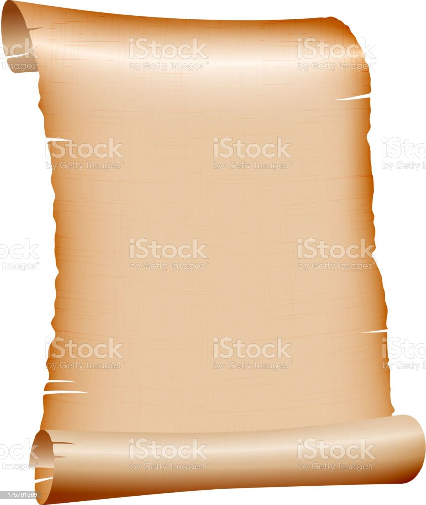 old blank scroll paper on white background royalty-free old blank scroll paper on white background stock vector art & more images of bible
