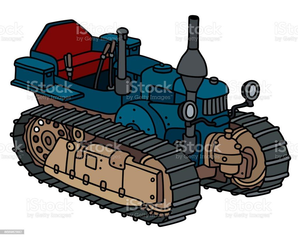 Old blue pimp vector art illustration