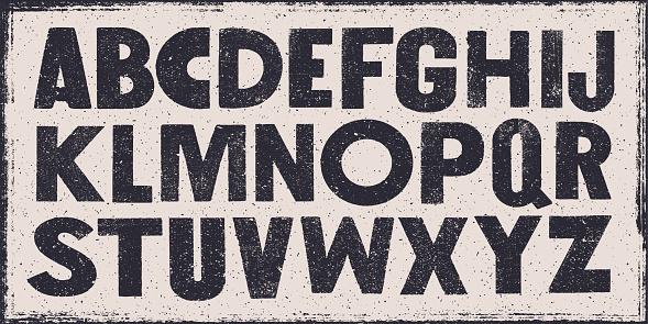 Old bold wasted alphabet - v1