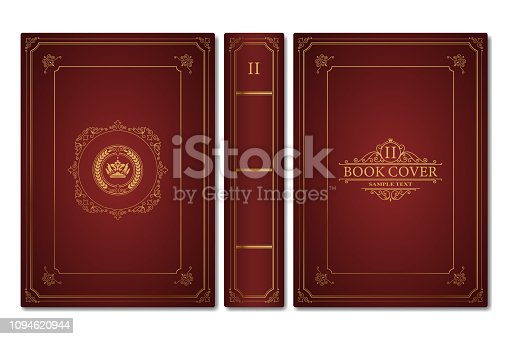 Old book cover in vector