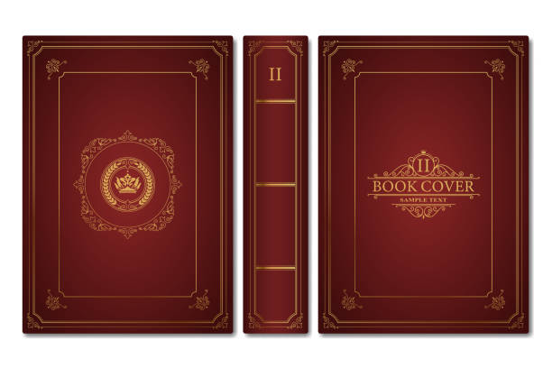 Old book cover Old book cover in vector book designs stock illustrations