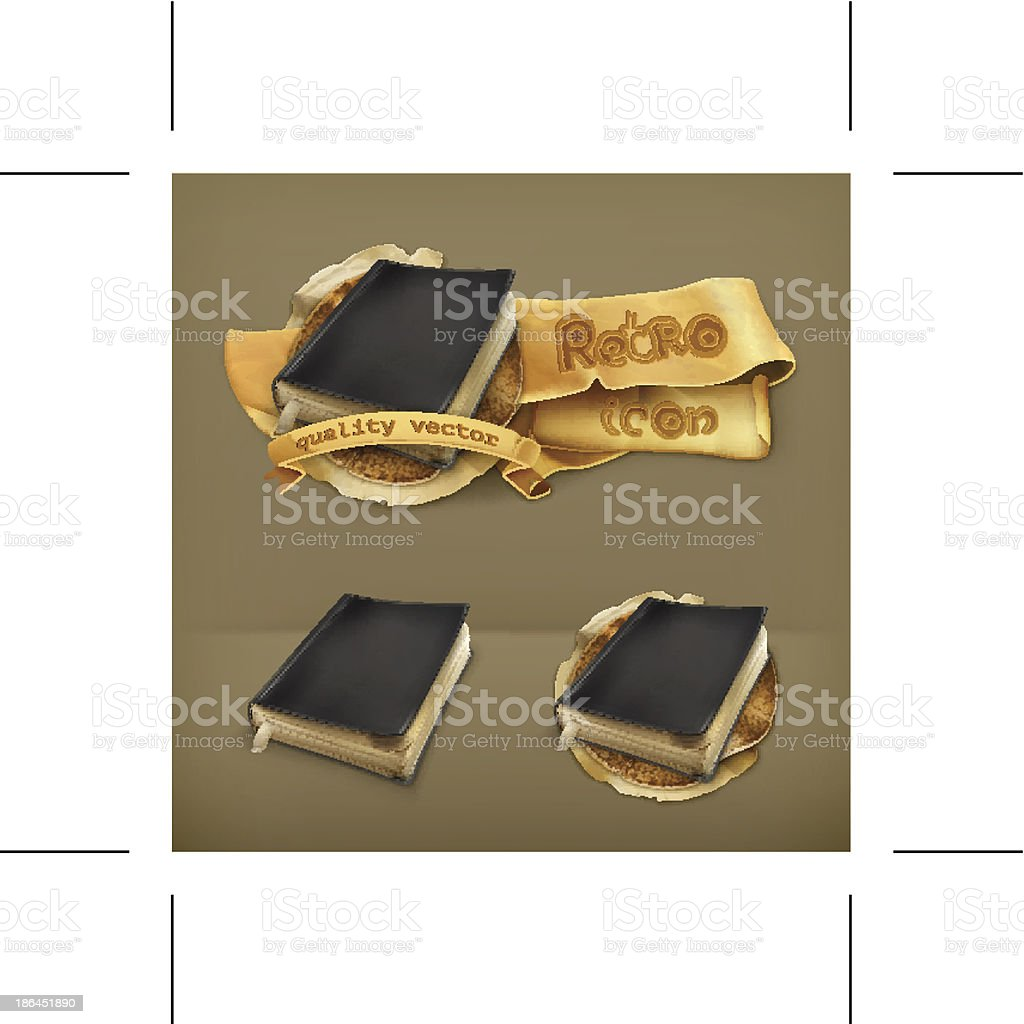 Old book, icon royalty-free stock vector art