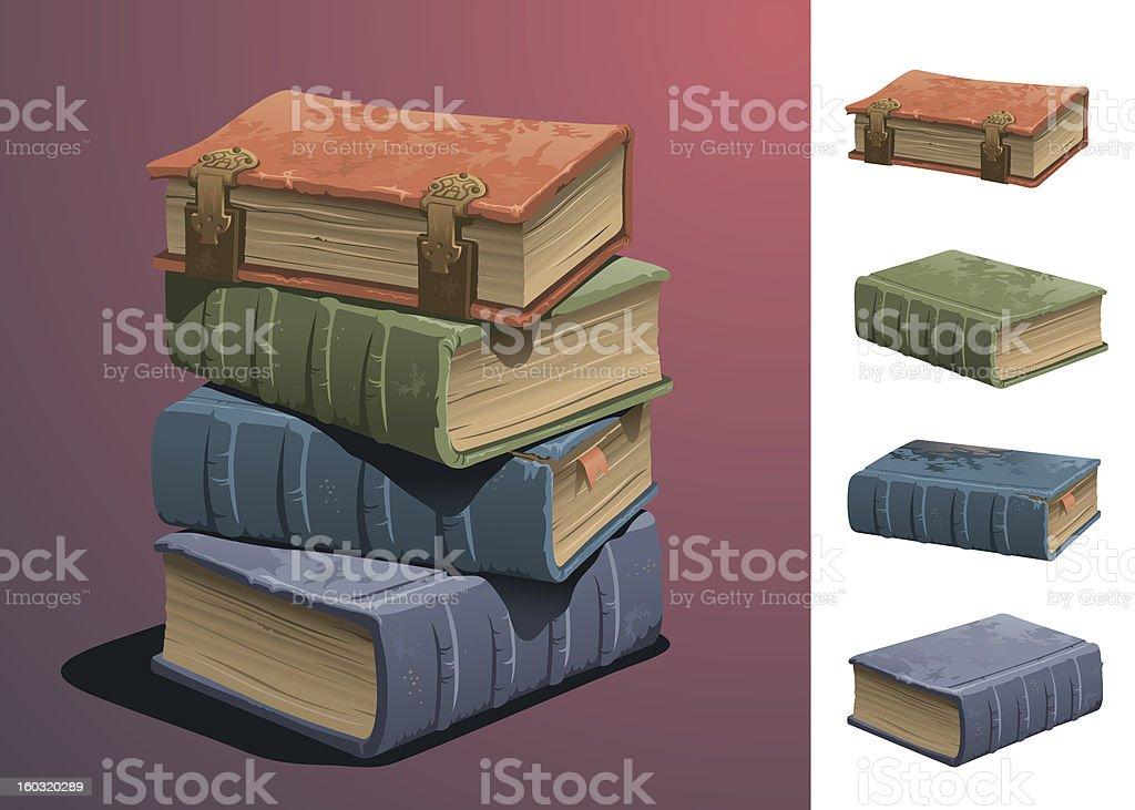 Old Books vector art illustration