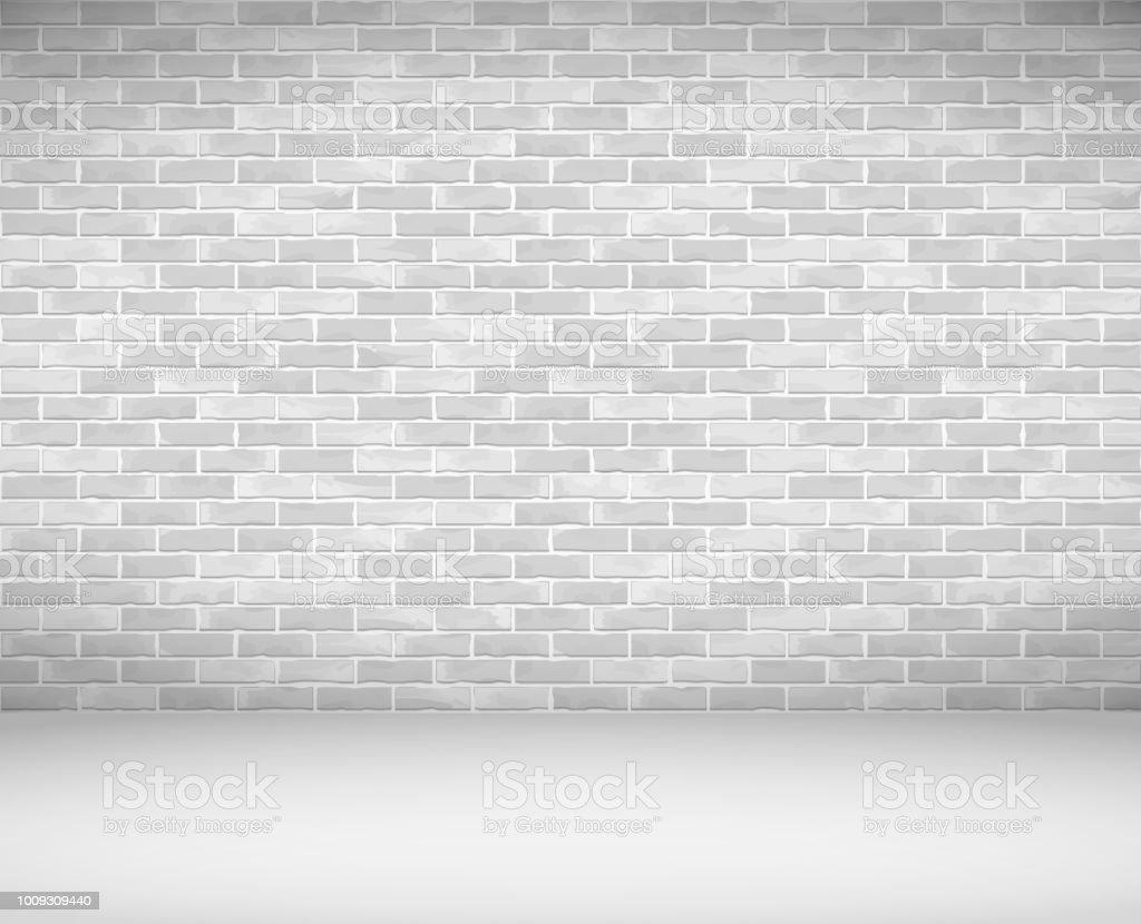 Old Brick Wall vector art illustration
