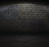 Old Brick Wall with Light