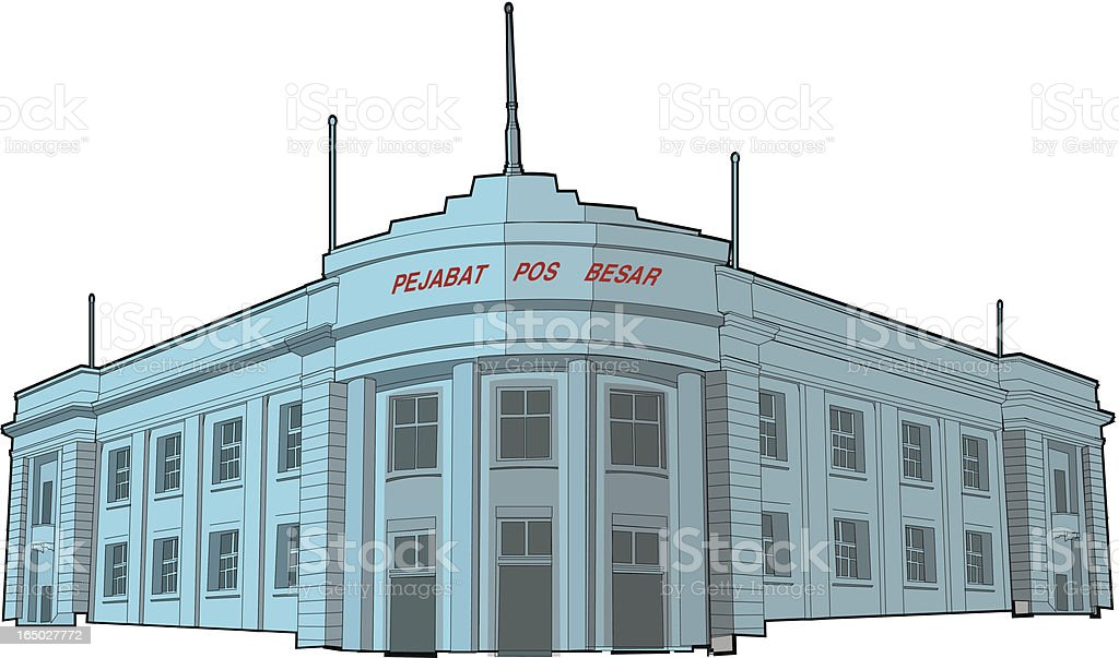 old building royalty-free stock vector art