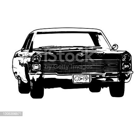 A vintage Cadillac car