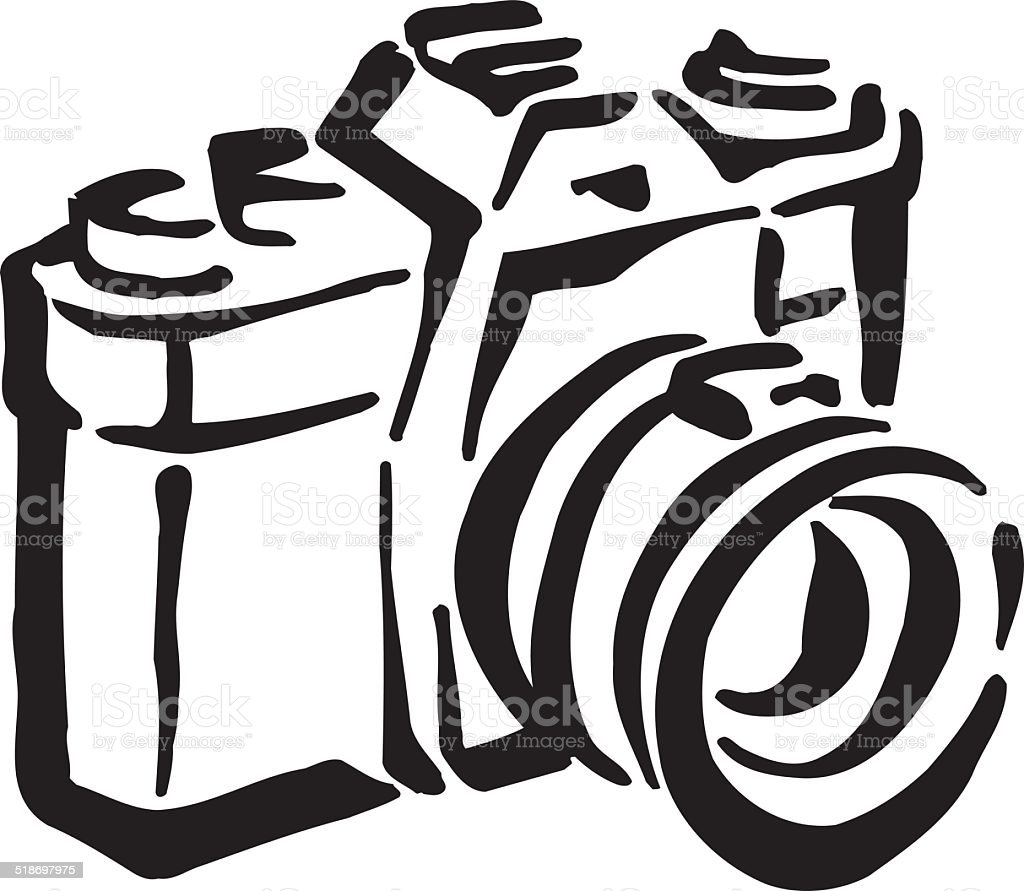 old camera clipart design stock vector art more images of camera rh istockphoto com free clipart camera outline free clipart camera images