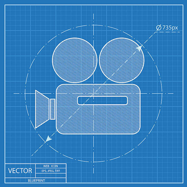 Royalty free blueprint camera film clip art vector images blueprint camera film clip art vector images illustrations malvernweather Image collections