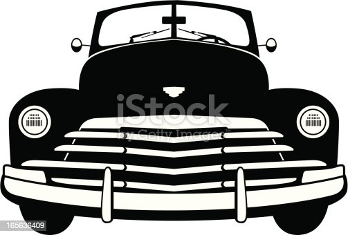 Car Audio Magazine >> Old Car Front Bw Stock Vector Art & More Images of ...