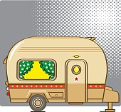 useful caravan vector about holiday concept