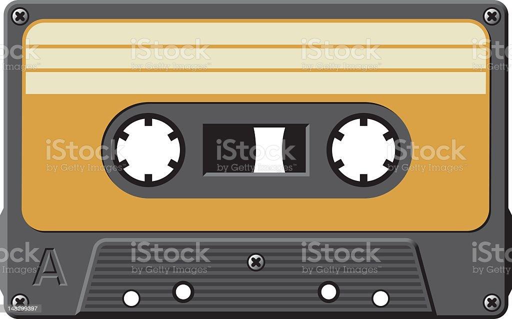Old cassette tape royalty-free stock vector art