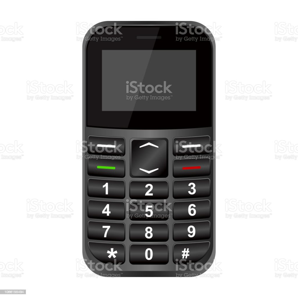Old Cell Phone Vector Design Stock Illustration - Download Image Now -  iStock