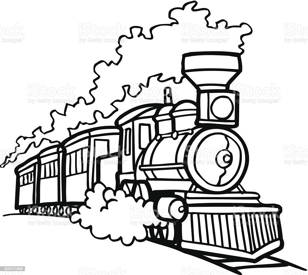 Old Choo Choo Train Vector Cartoon Clipart Stock ...