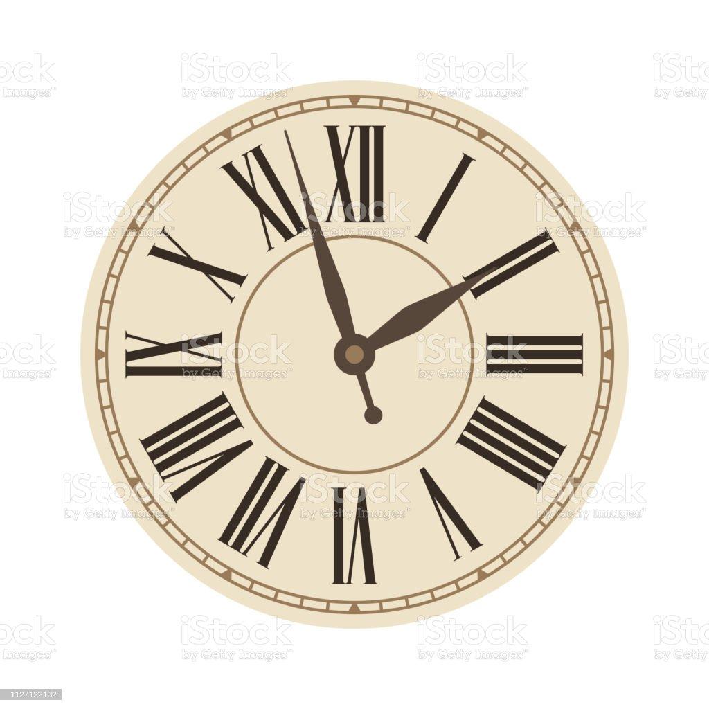 時計 イラスト 古い