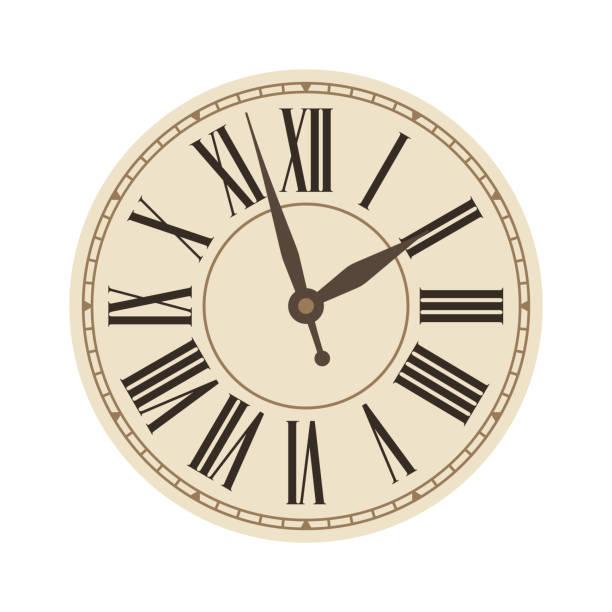 ilustraciones, imágenes clip art, dibujos animados e iconos de stock de antiguo reloj clásico - wall clock