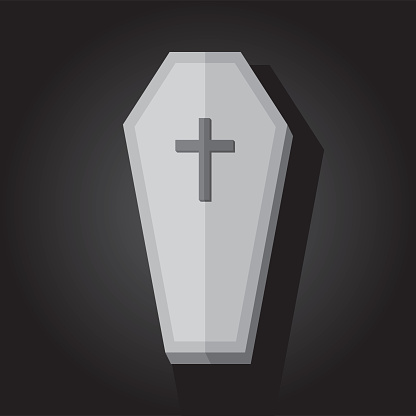Old Coffin Icon Flat