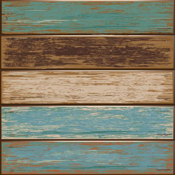 ilustraciones, imágenes clip art, dibujos animados e iconos de stock de color de fondo de textura de madera viejo. - textura de madera