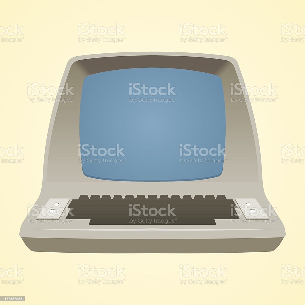Old Computer royalty-free stock vector art