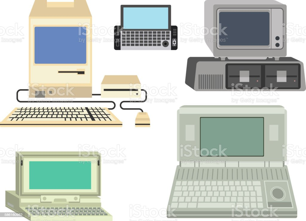 old computer vector illustration stock vector art more images of