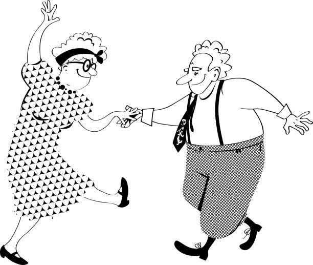 Royalty Free Baby Boomers Having Fun Clip Art, Vector ...