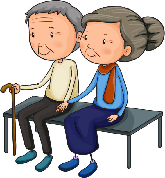 old couple dating - old man pic pictures stock illustrations, clip art, cartoons, & icons